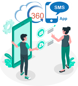 360 sms app/software for bulk text messaging solution
